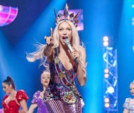 Оля Полякова удивила блестящим нарядом